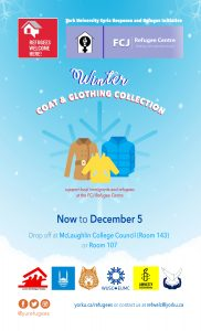 Refugees Welcome Here! Winter Coat and Clothing Collection