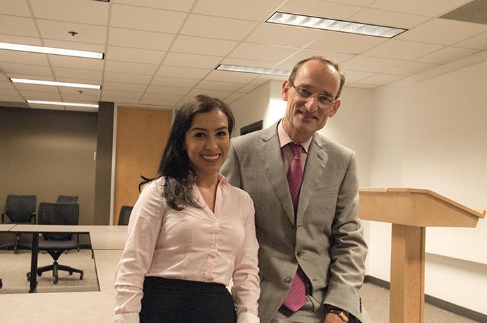 Johannes van der Klaauw with Student
